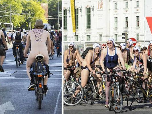 World Naked Bike Ride: Wenn in Wien nackt geradelt wird