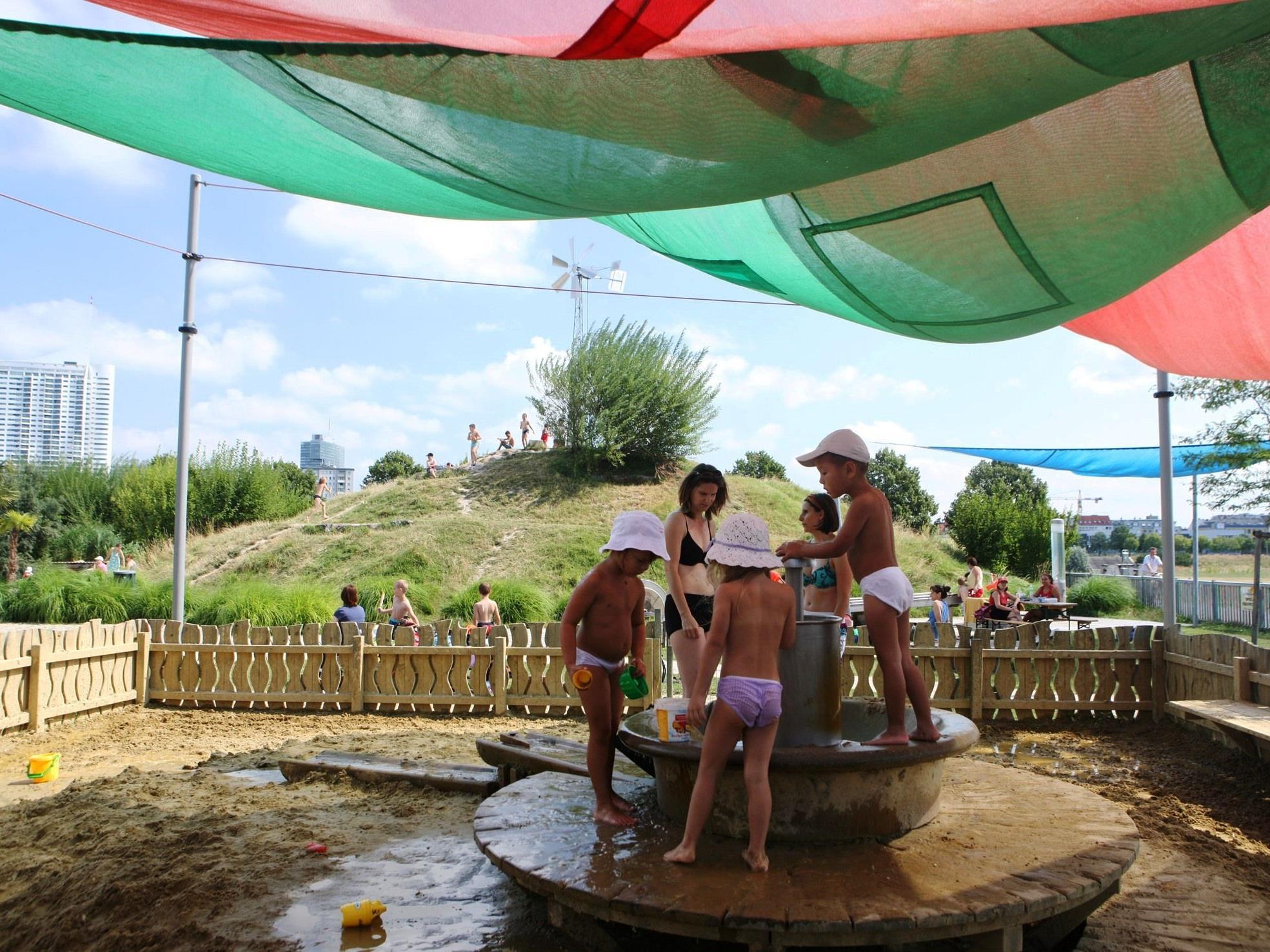 Pritscheln, Plantschen und viel Spaß auf Wiens Wasserspielplätzen