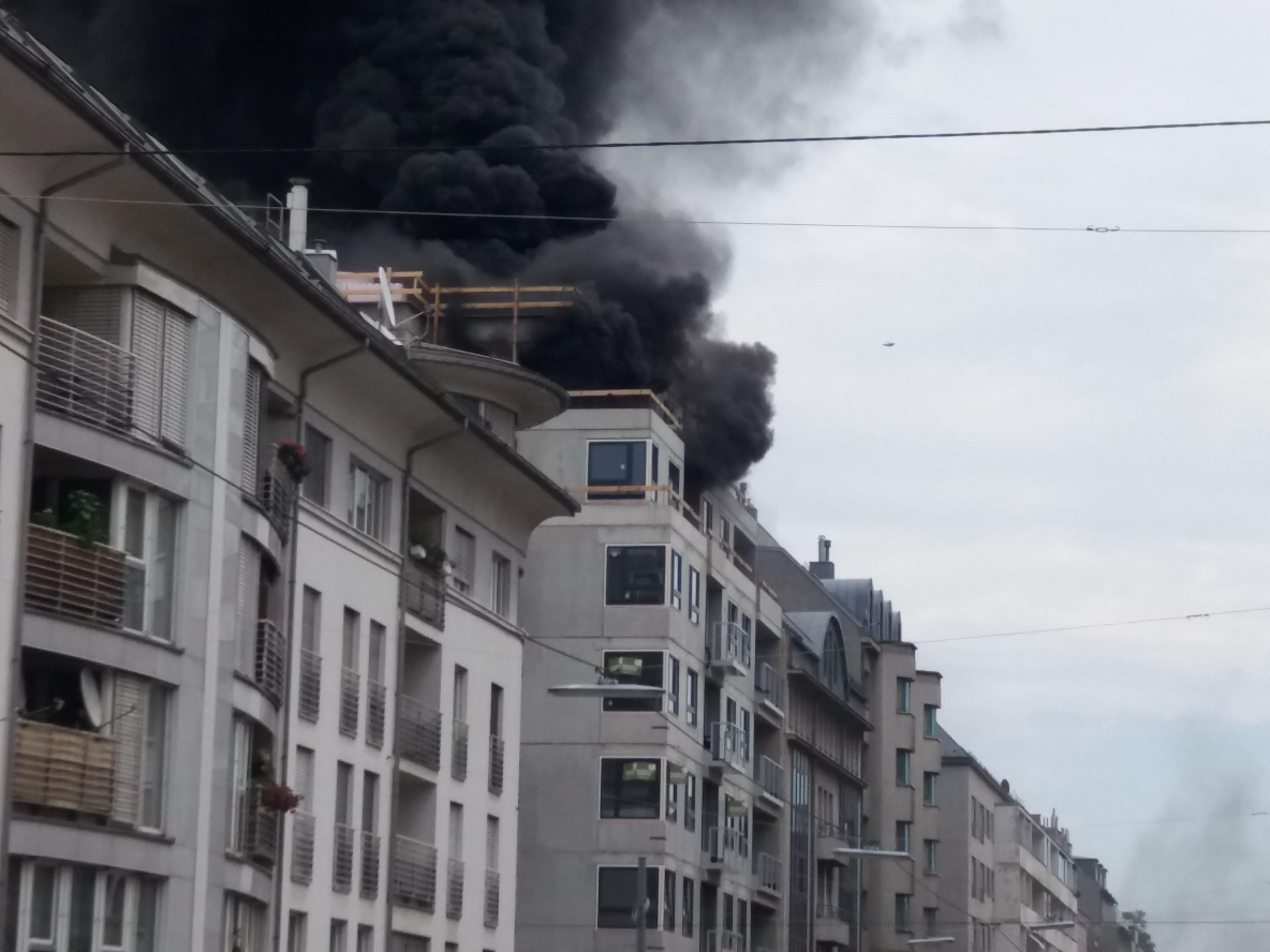 In Wien-Favoriten kam es auf einer Baustelle zu einem Brand.