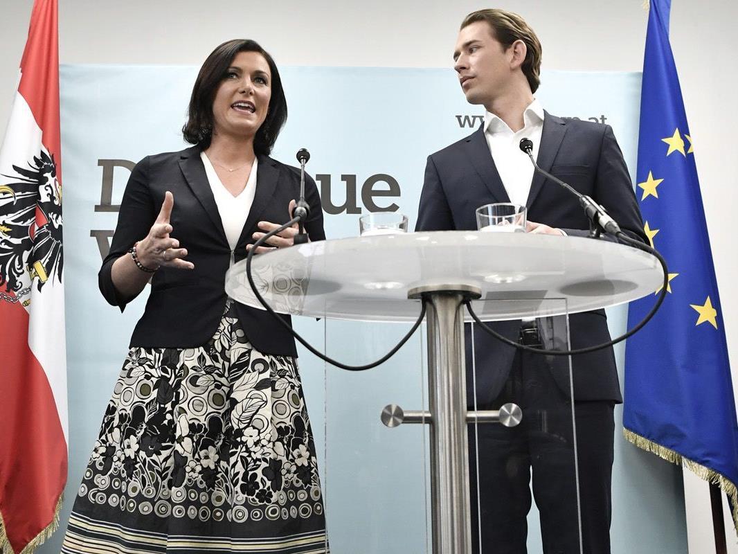 Generalsekretärin Elisabeth Köstinger mit ÖVP-Chef Sebastian Kurz.