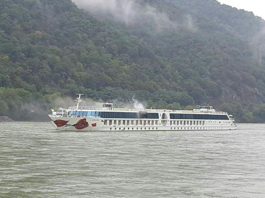 Auf einem Donauschiff in der Wachau brach ein Feuer aus