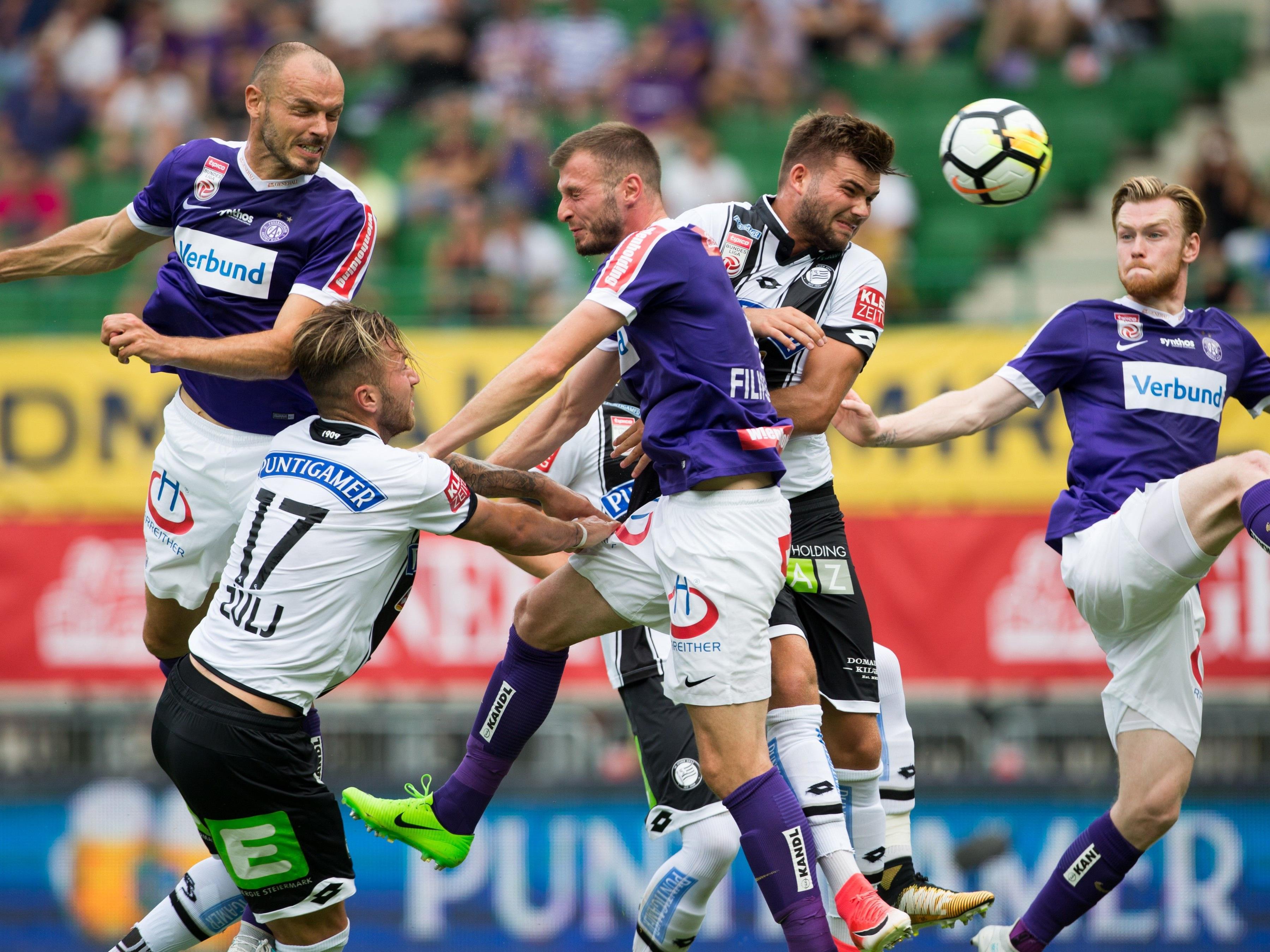 Die Wiener Austria hat gegen Sturm Graz mit 2:3 verloren.