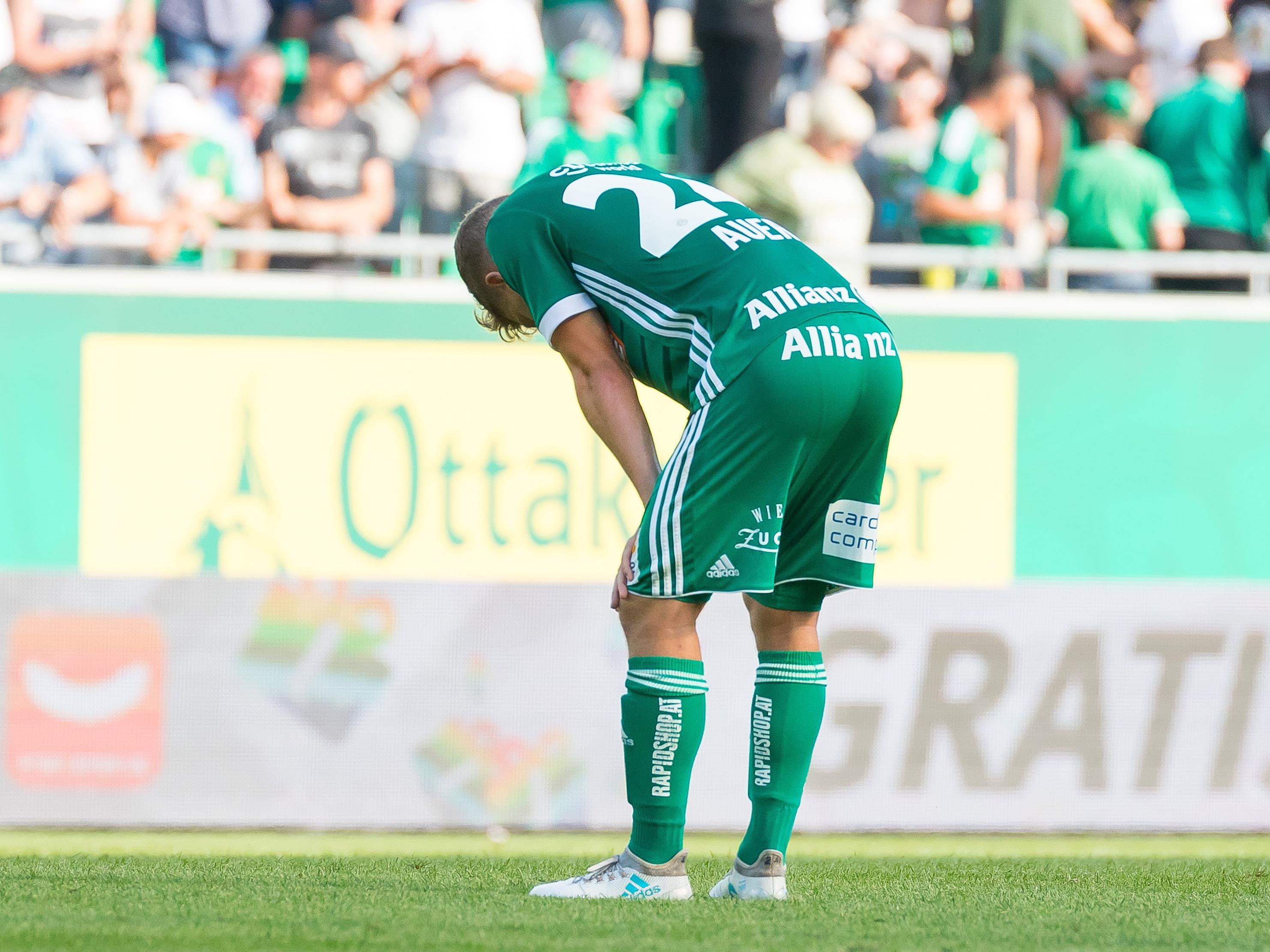 Stephan Auer (SK Rapid Wien) nach dem Spiel am Samstag