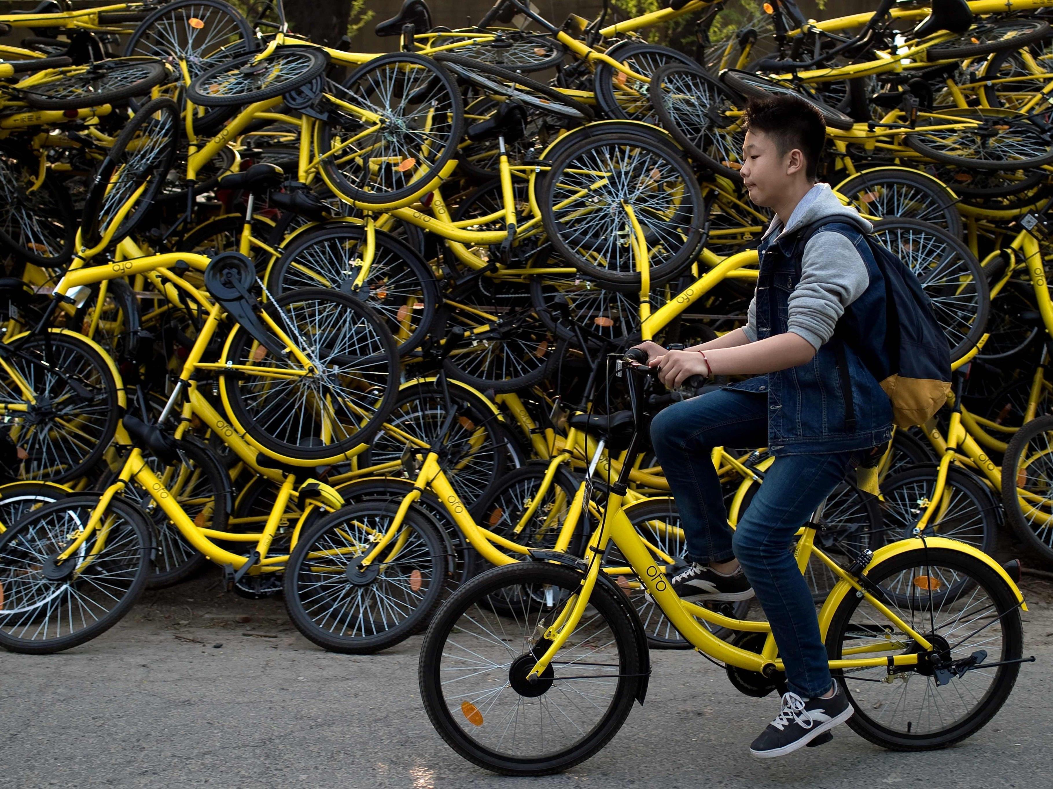 Die klassischen gelben Ofo-Fahrräder werden bald auch in Wien zu sehen sein