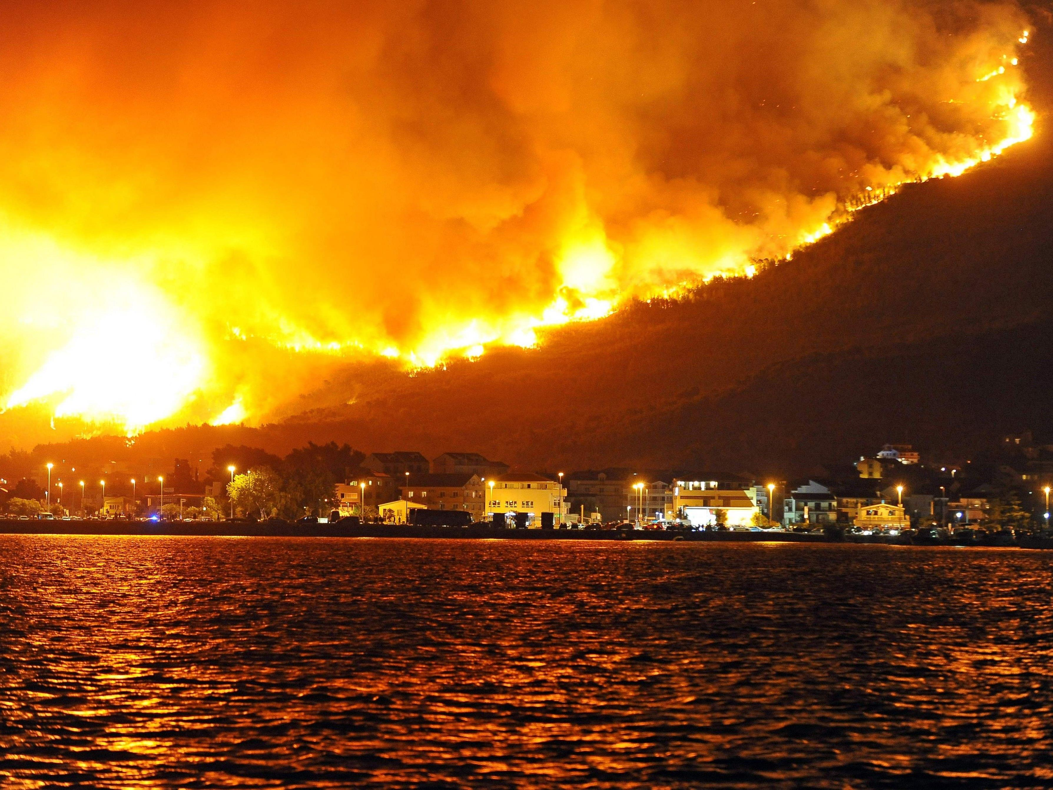 Waldbrände im kroatischen Split.