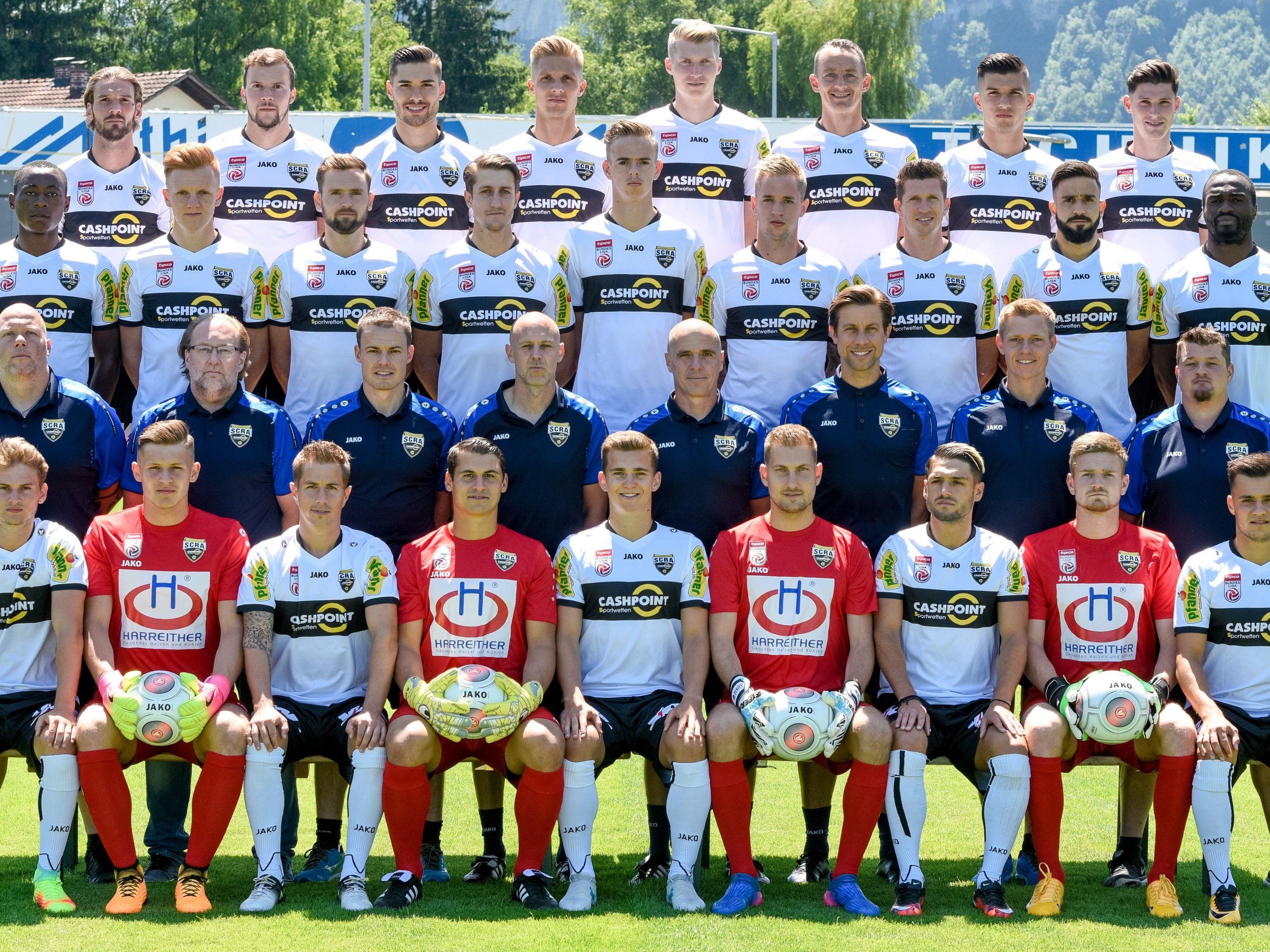 Der SCR Altach zwei Tage vor dem Europacup-Rückspiel gegen Satschchere.