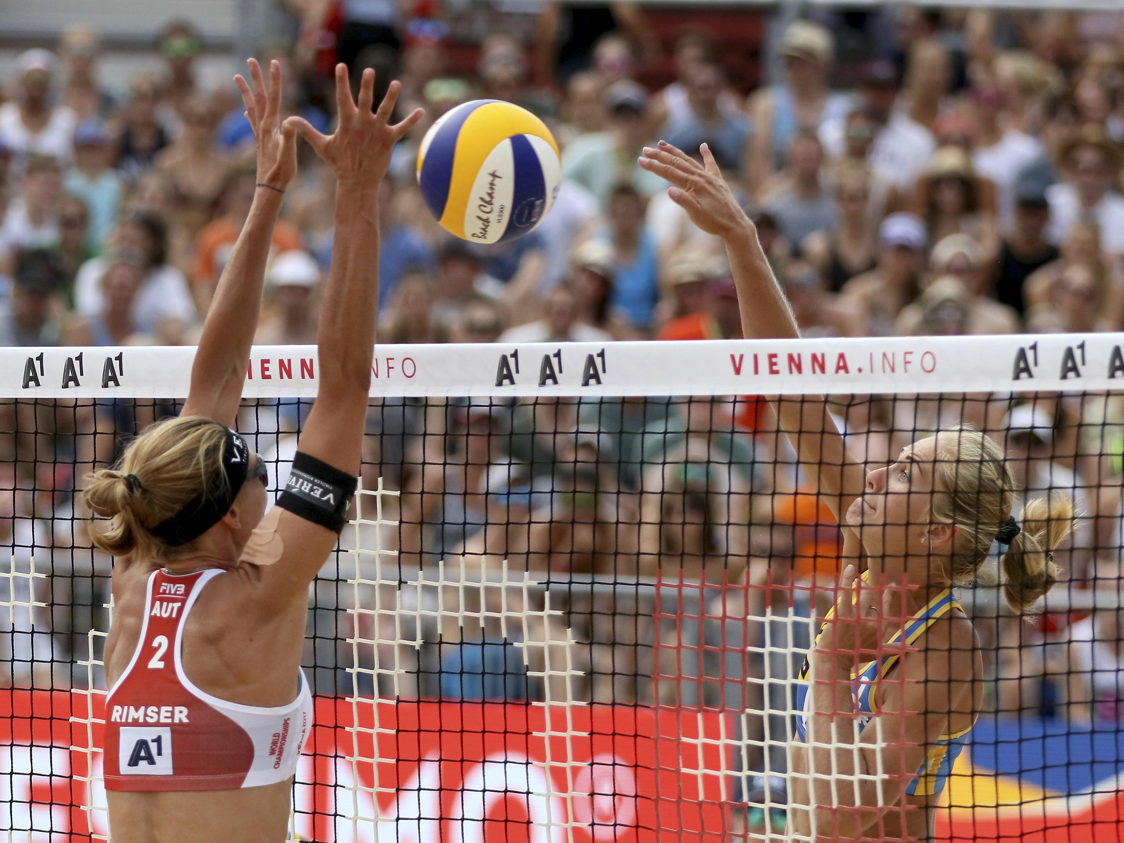 Rimser & Plesiutschnig verloren das Match bei der Beach Volleyball WM in Wien.