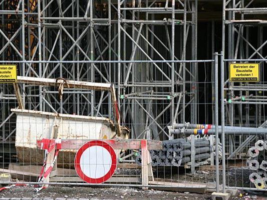 Auf einer Baustelle in Wien kam es zu einem Arbeitsunfall