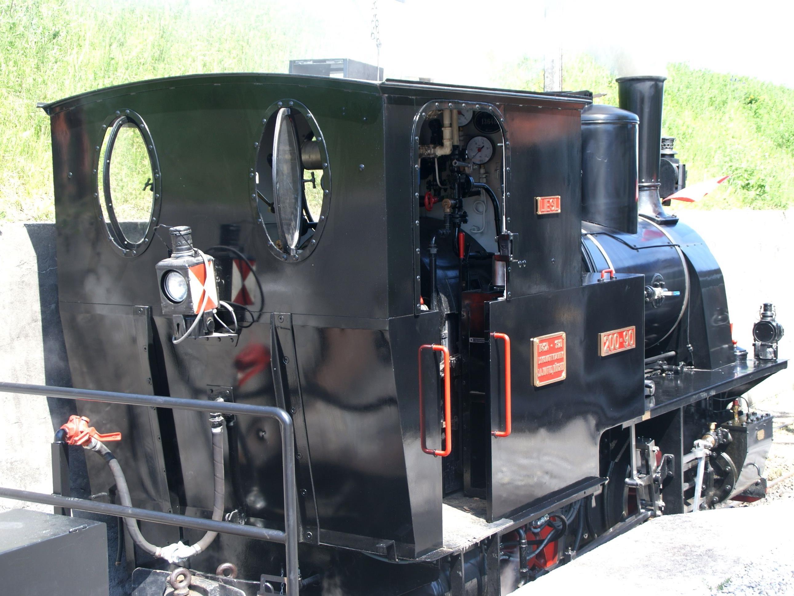 Die Lok steht bereit für Rheinbähnle Fans.
