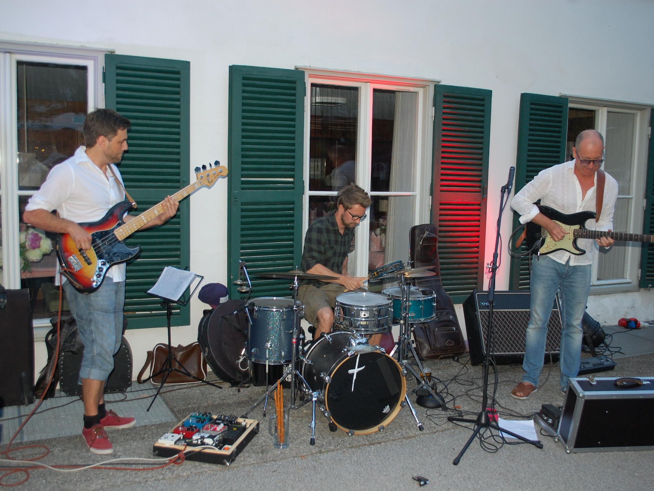 """Mit Funk und Jazz überzeugte die Formation """"Toni.Eberle.Band""""."""