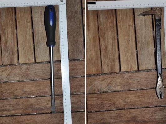 Dieses Einbruchswerkzeug wurde von der Polizei sichergestellt