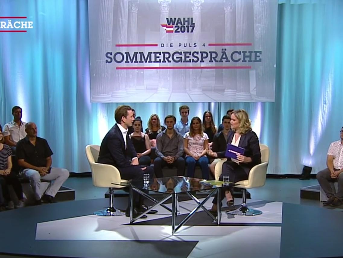 Der neue ÖVP-Chef im Sommergespräch auf Puls4