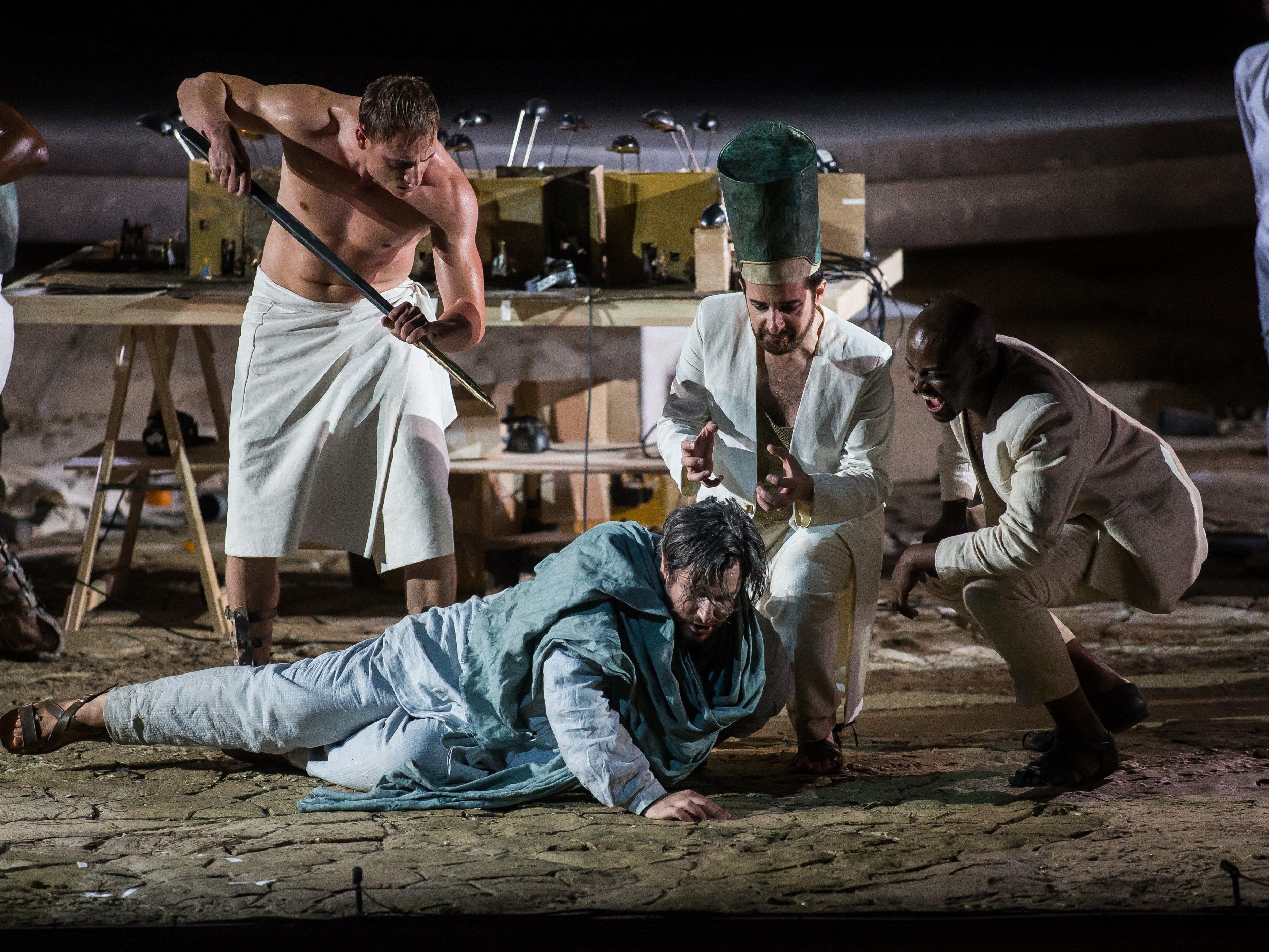 """Moses in Ägypten"" - Hausoper bei den Bregenzer Festspielen 2017."