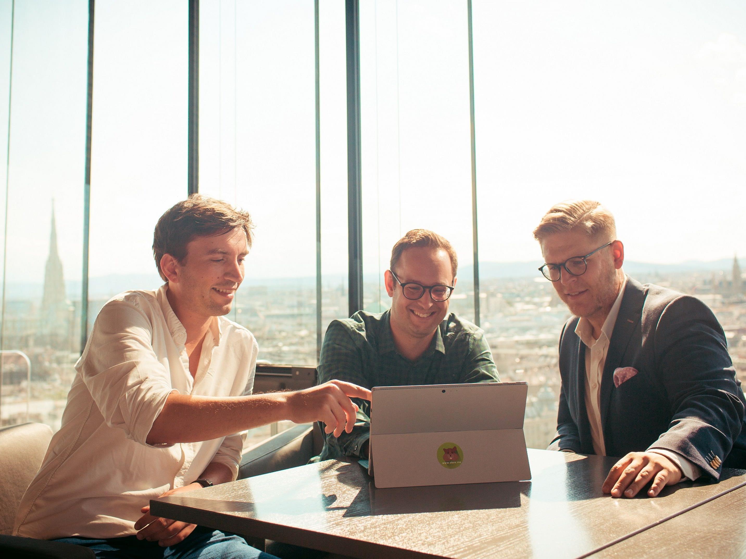 Ferdi Dietrich, Christoph Sandraschitz und Johannes Braith von store.me