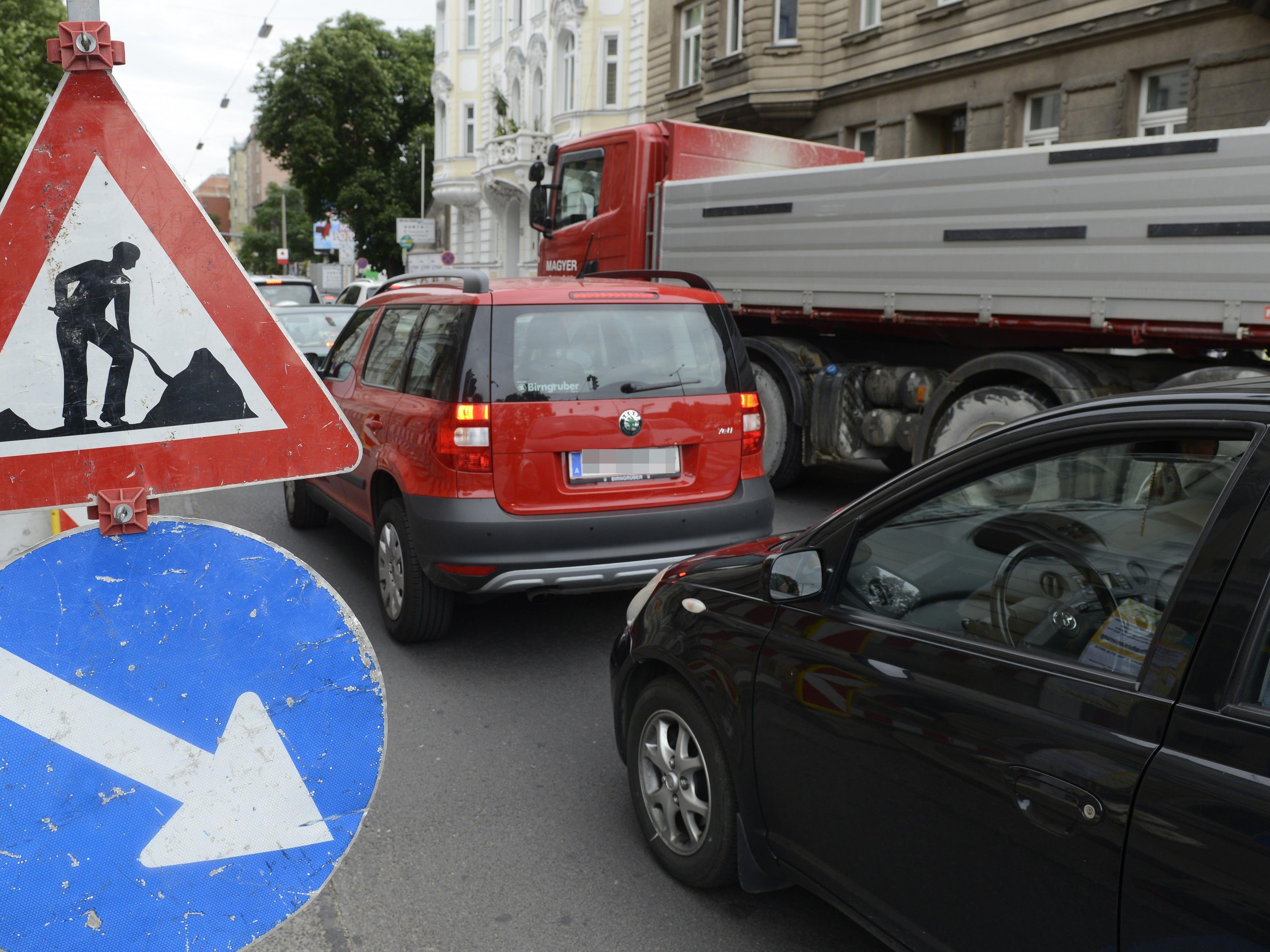 Auf zwei neue Baustellen muss man sich ab dieser Woche in Wien einstellen
