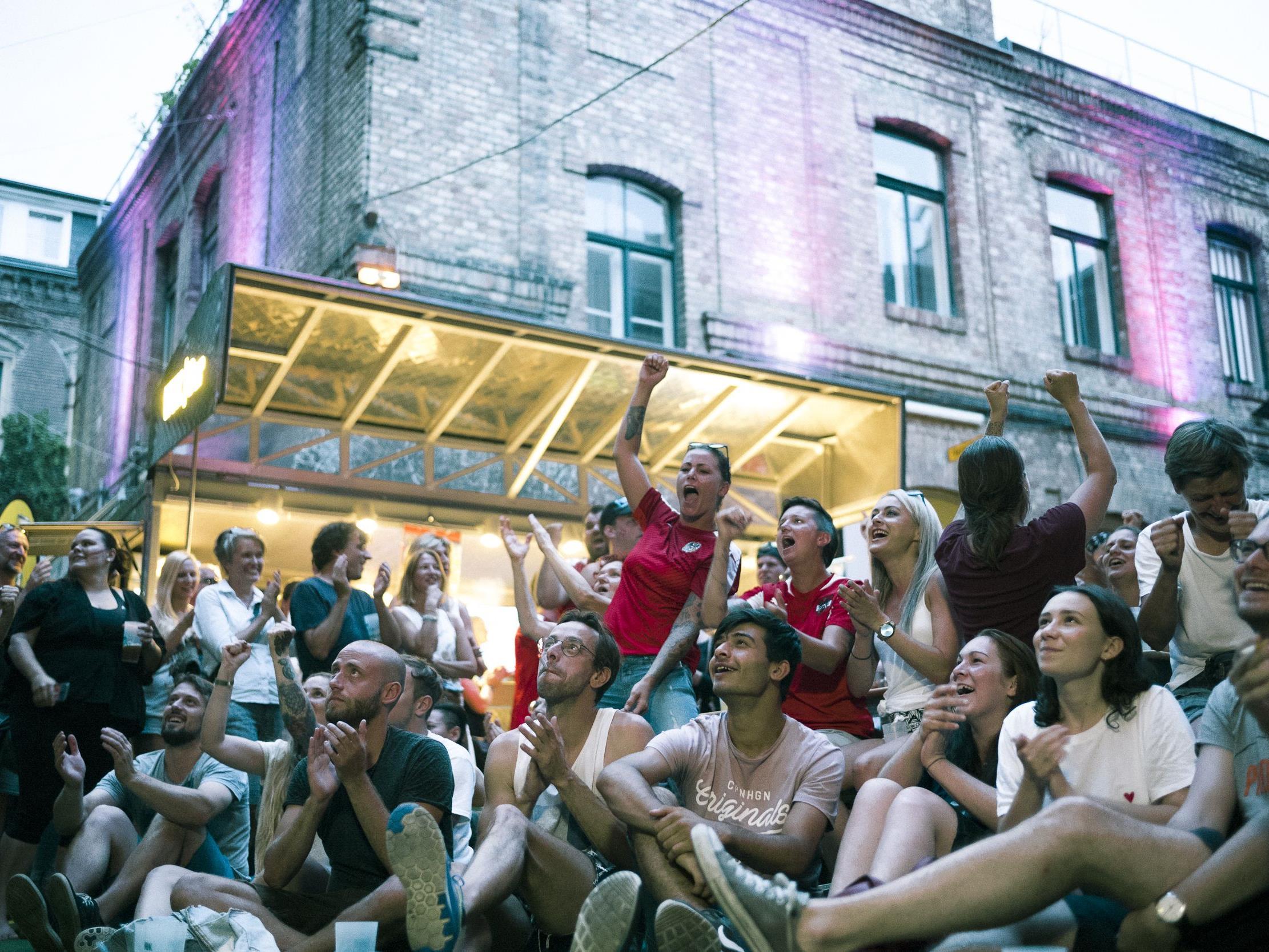 So wurde die EM-Sensation der Damen im Wiener WUK gefeiert.