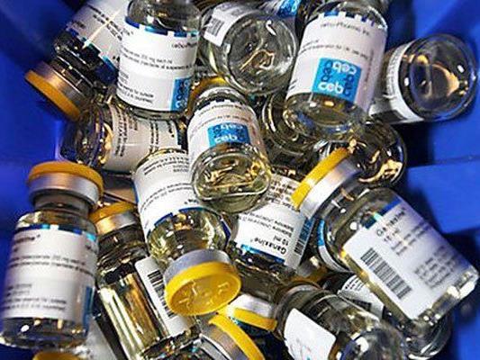 Diverse Anabolika-Präparate wurden von der Polizei in NÖ sichergestellt.
