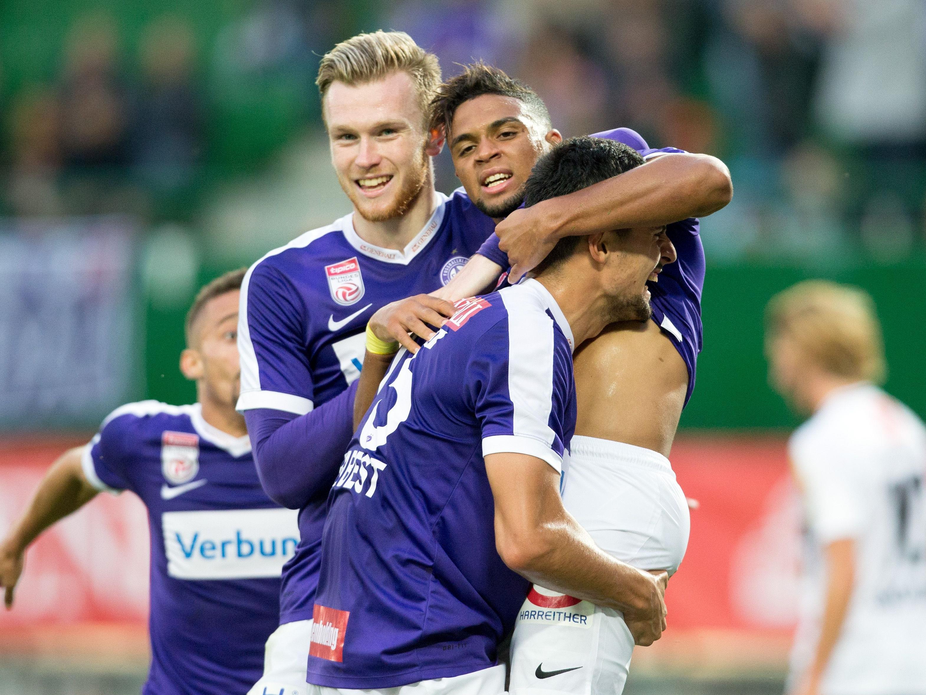 Im Schlager der 2. Bundesligarunde trifft die Wiener Austria auf Sturm Graz.