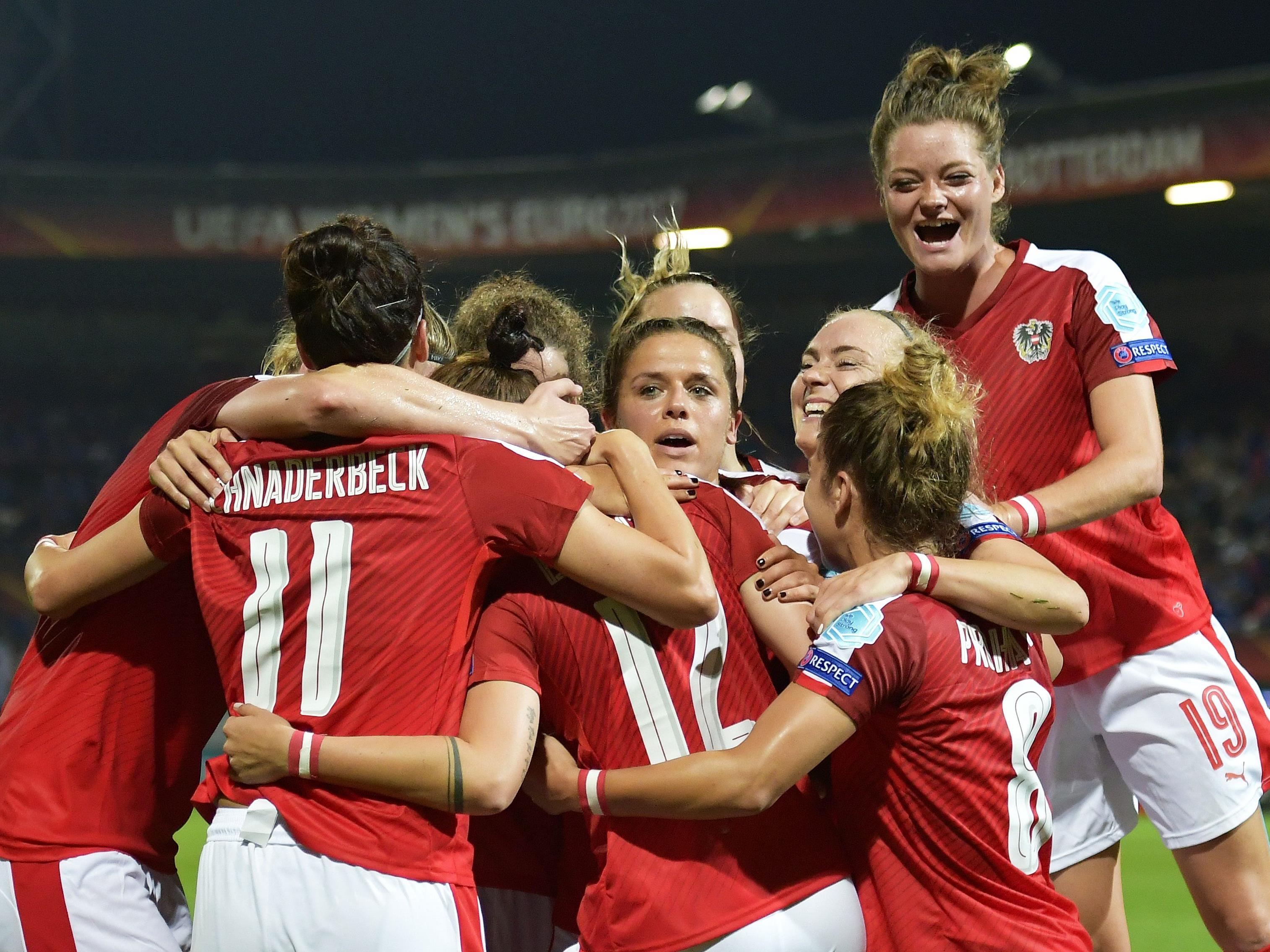 Österreich steht in der Frauen EM im Viertelfinale und trifft auf Spanien.