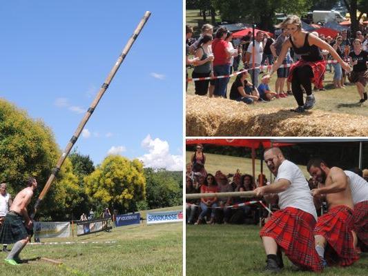 Das Baumstammwerfen zählt zur Königsdisziplin der Highlandgames.