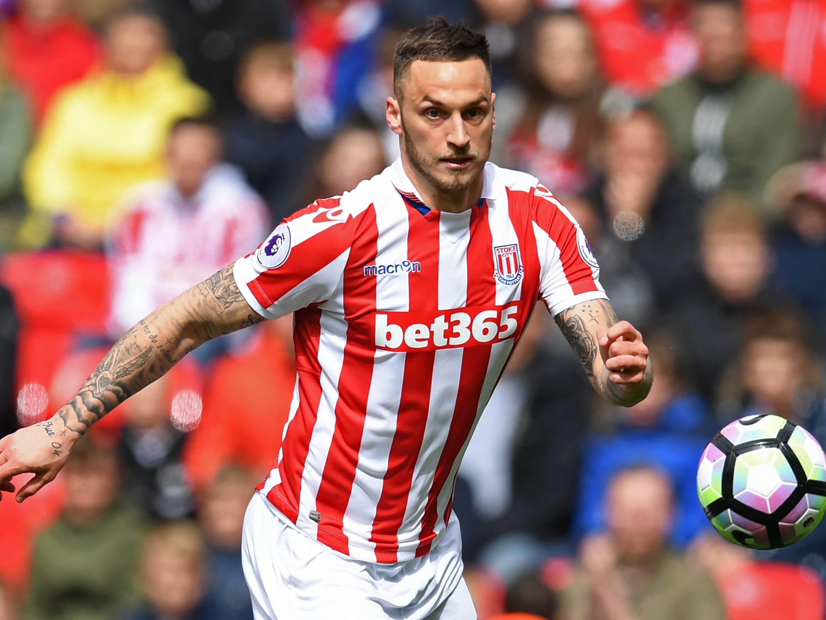 Marko Arnautović steht vor einem Wechsel von Stoke City zu West Ham United.