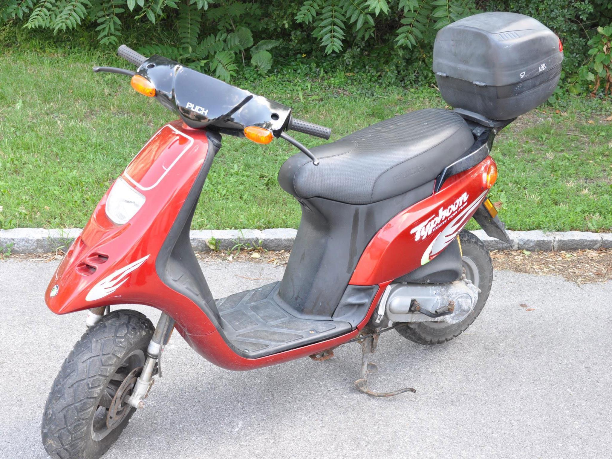 Dieses Moped wurde sichergestellt