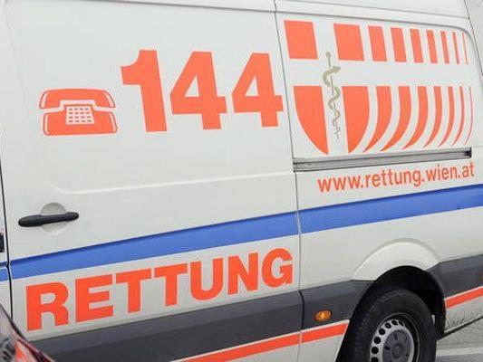 Zwei Verletzte forderte der Unfall in Wien 22