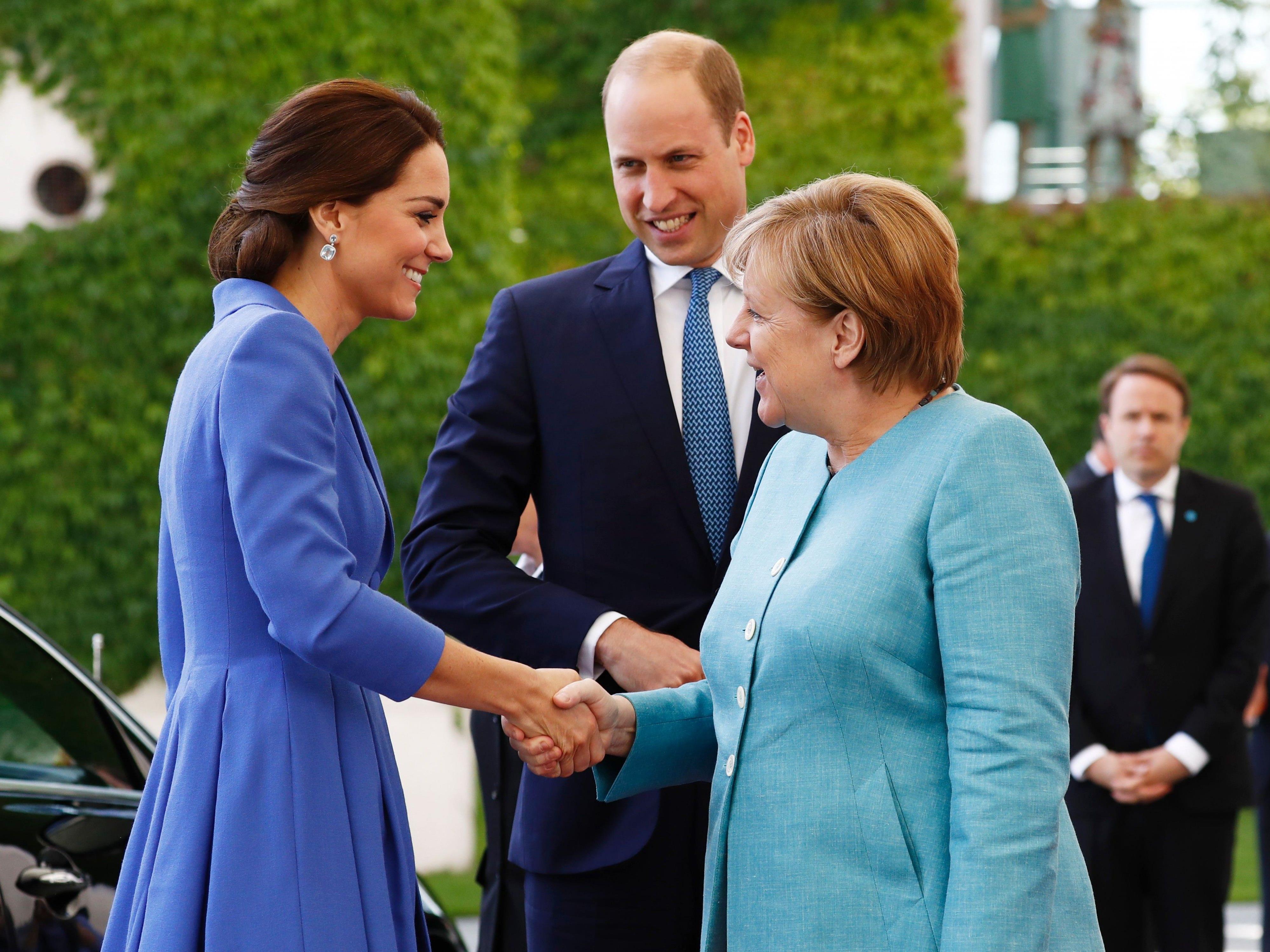 Kate und Williams haben auch Angela Merkel getroffen.
