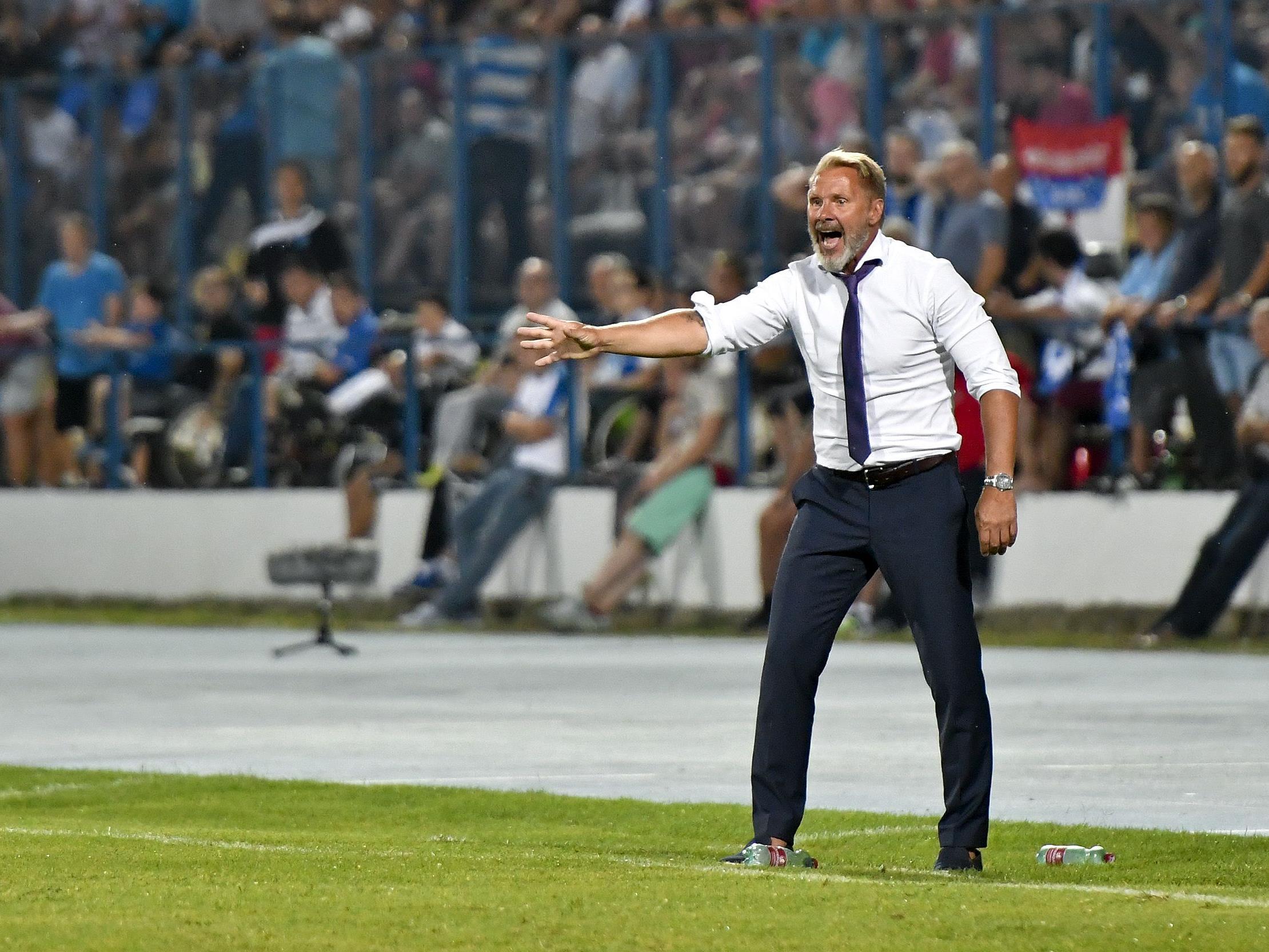 Austria-Trainer Thorsten Fink hat in Osijek Positives und Negatives gesehen.