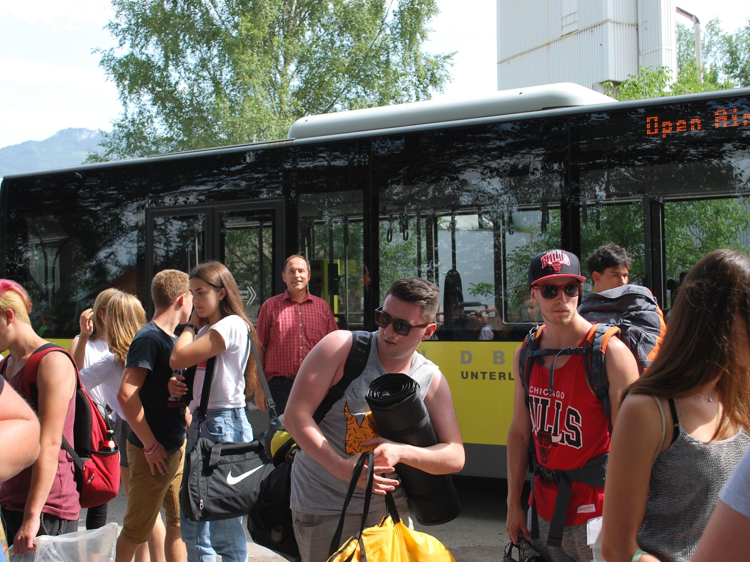 Mit dem Bus direkt zum Szene openair am Alten Rhein in Lustenau