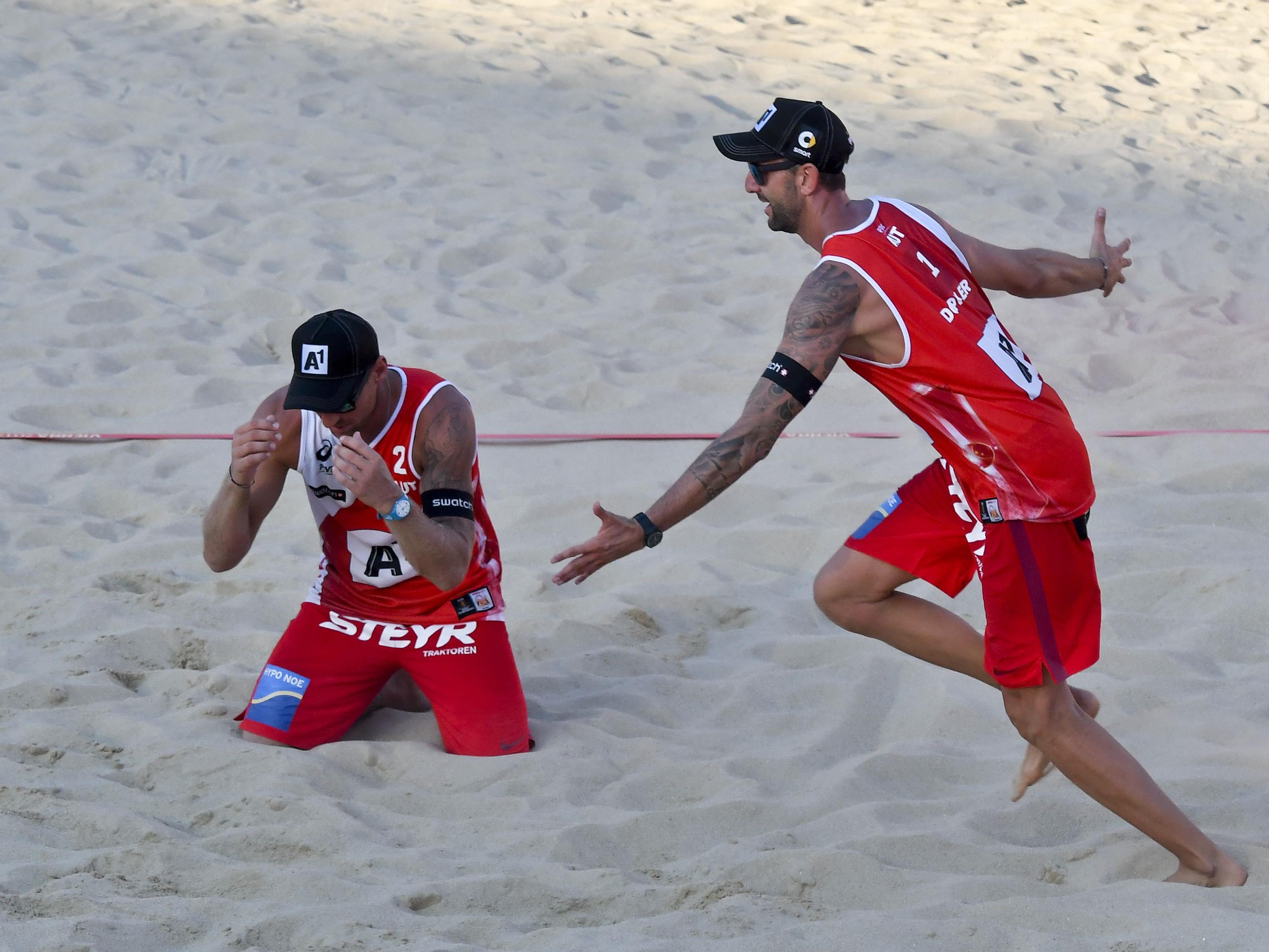 Das rot-weiß-rote Duo Doppler/Horst ist im Semifinale der Beach-Volleyball-WM 2017