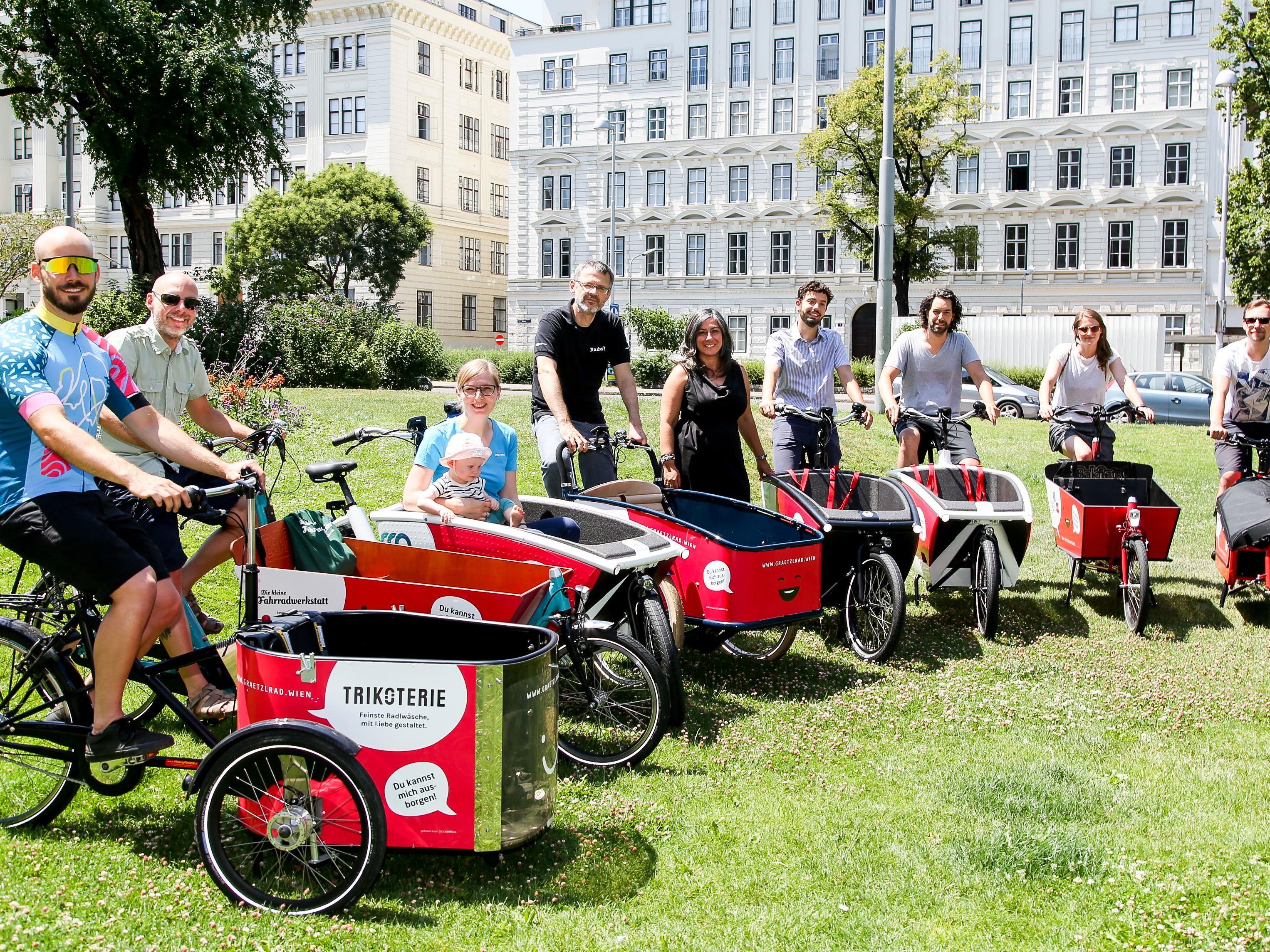 In Wien kann man nun Gratis-Transporträder ausleihen
