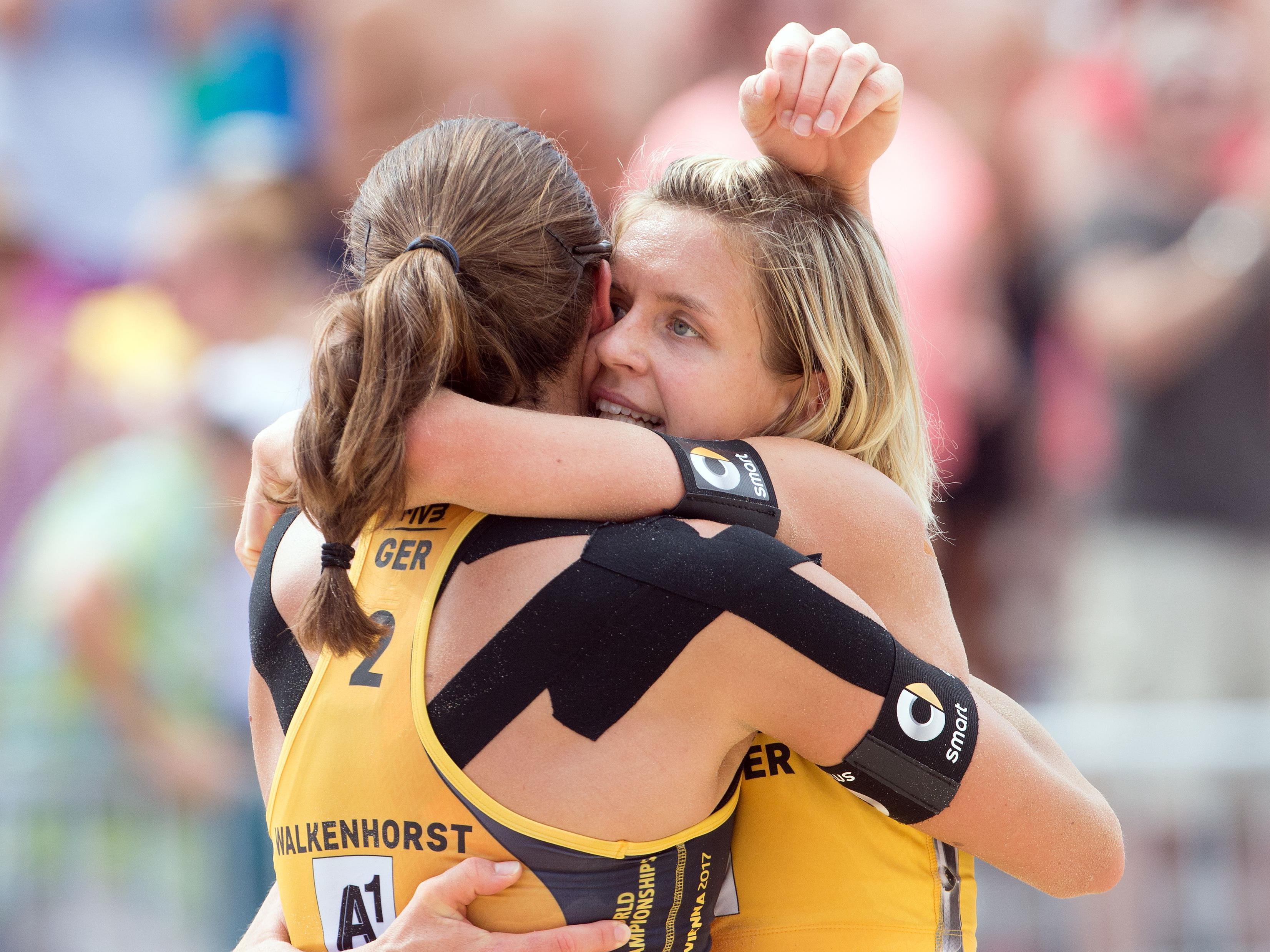 So sind die Paarungen im Semifinale der Damen bei der Beachvolleyball WM in Wien.
