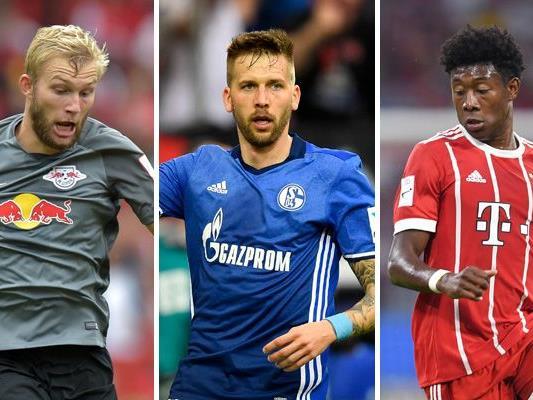 Am Freitag startet die neue Saison der deutschen Bundesliga. Mit dabei sind unter anderem auch Konrad Laimer, Guido Burgstaller und David Alaba.