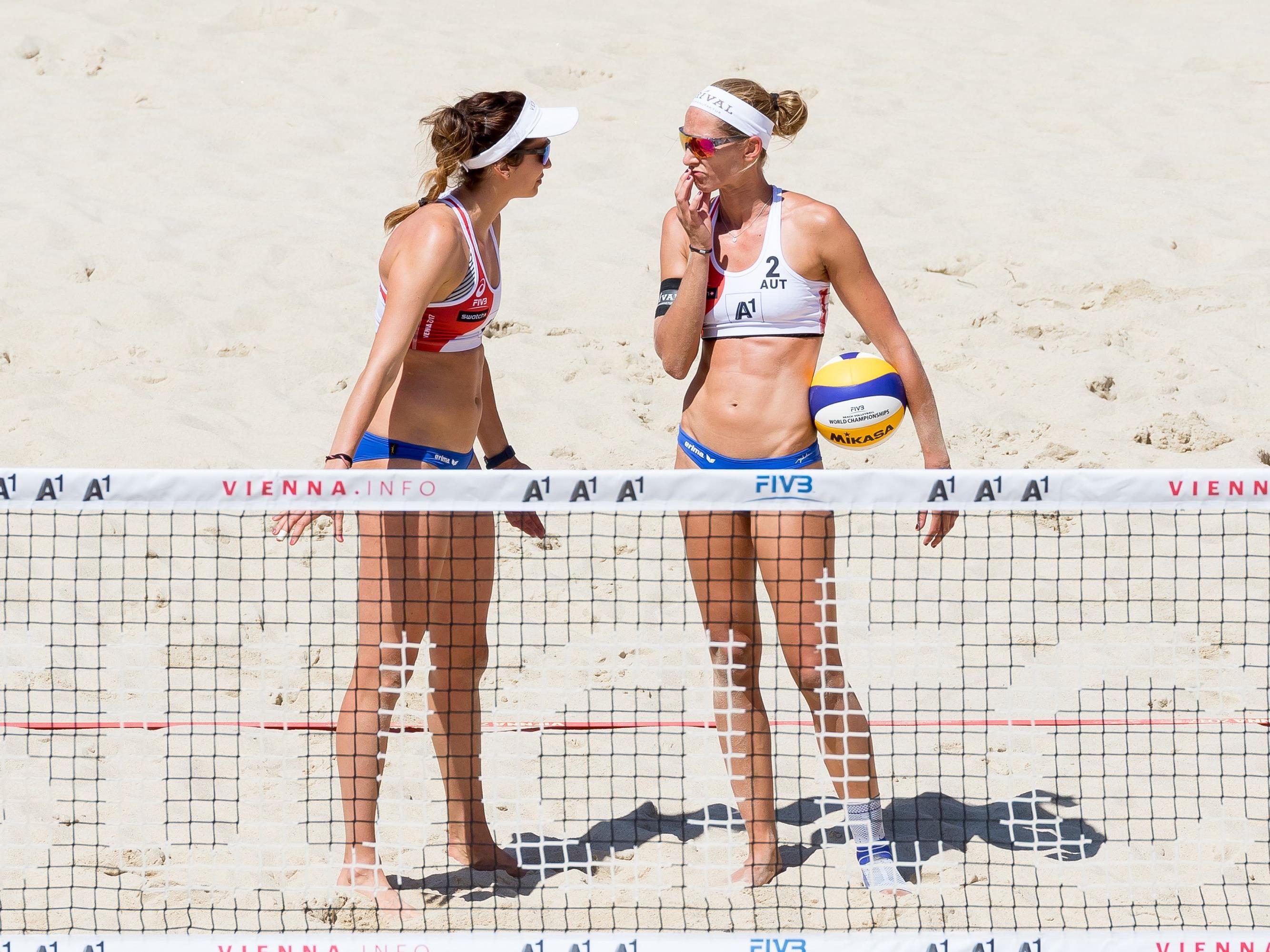 Plesiutschnig/Rimser scheiden bei der Beach Volleyball WM in Wien aus.