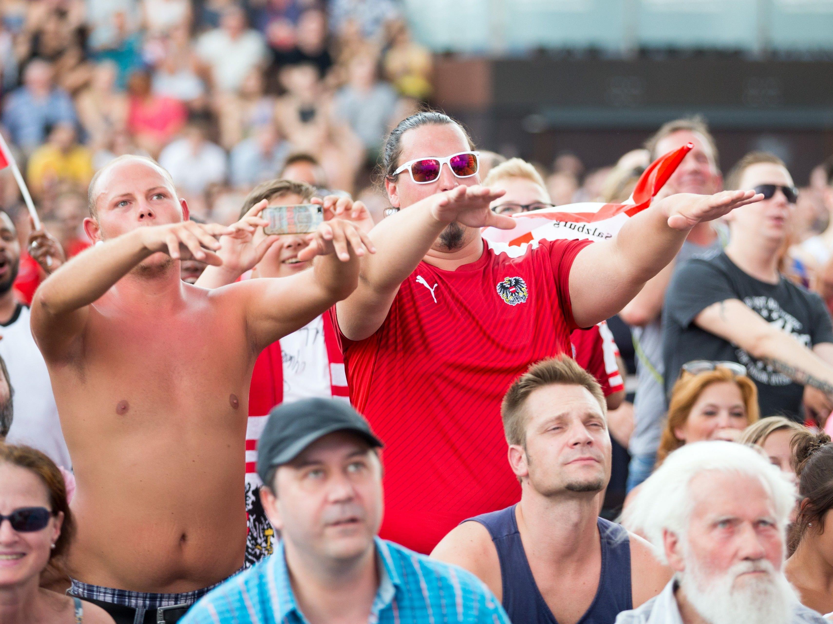 12.000 sahen Frauen-EM-Halbfinale beim Public Viewing in Wien.