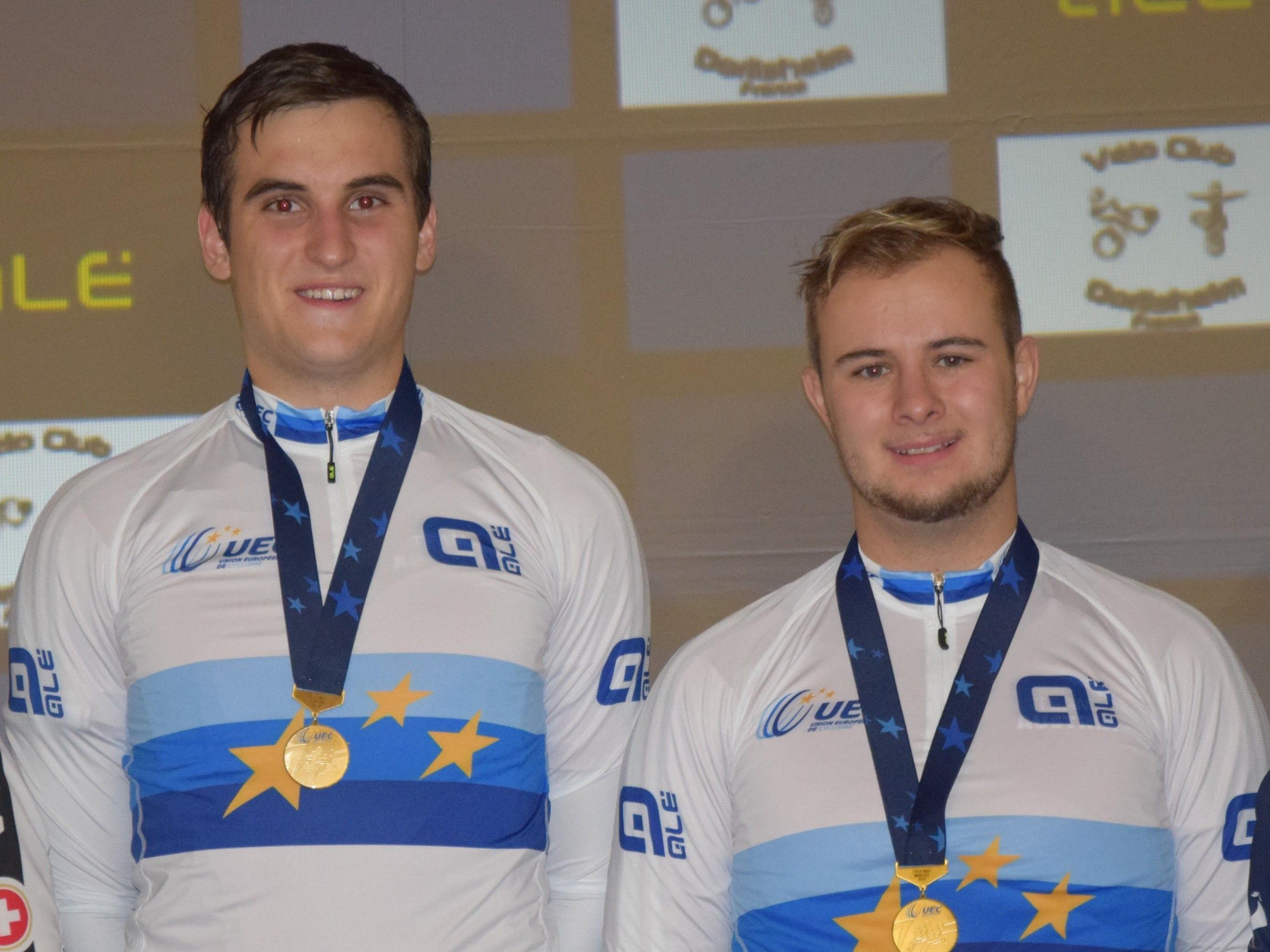 Kevin Bachmann und Stefan Feurstein holten sich wie im Vorjahr den Europameistertitel im Radball (U23).