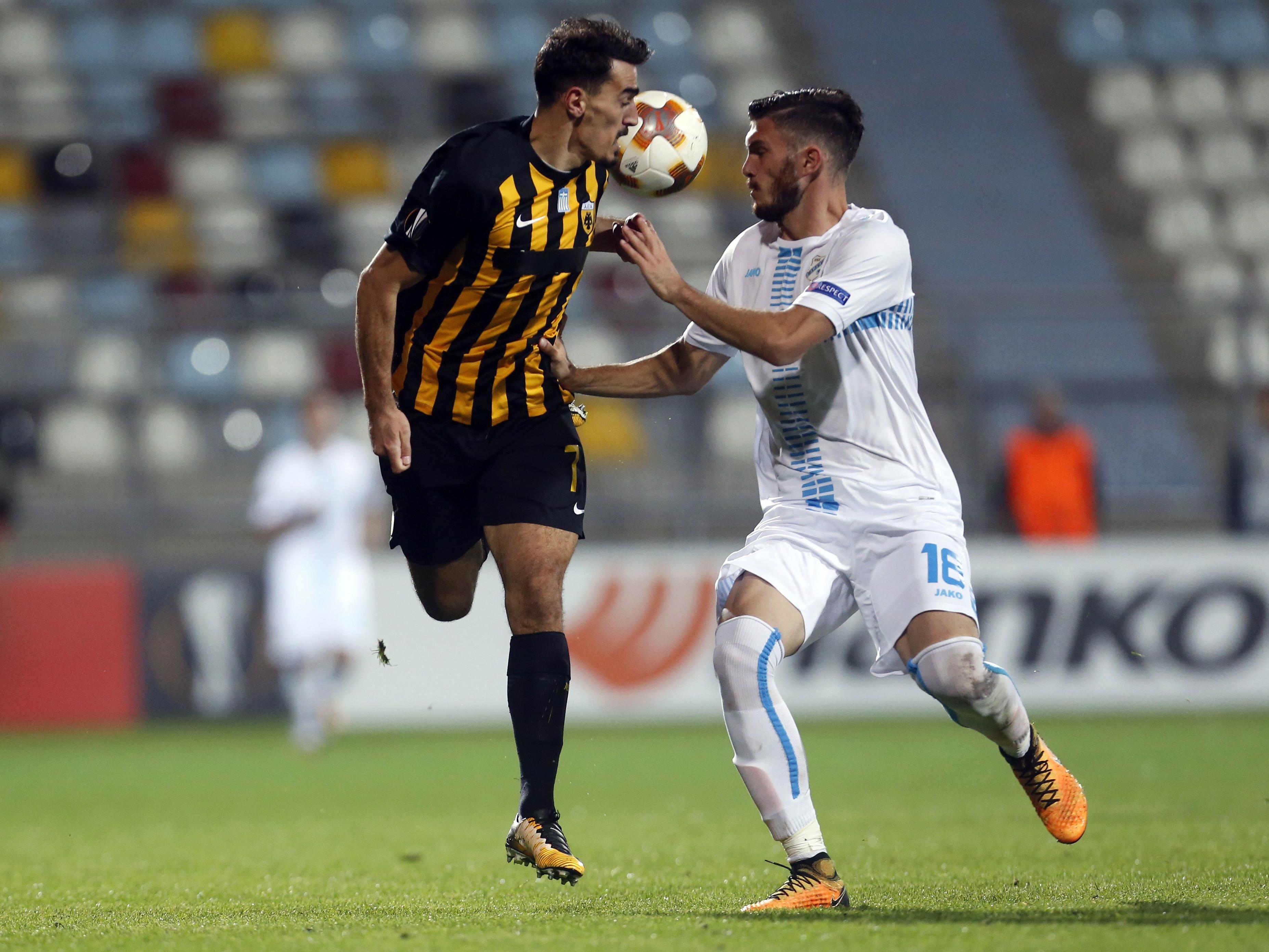 Lazaros Christodoulopoulos hier beim Spiel gegen HNK Rijeka.