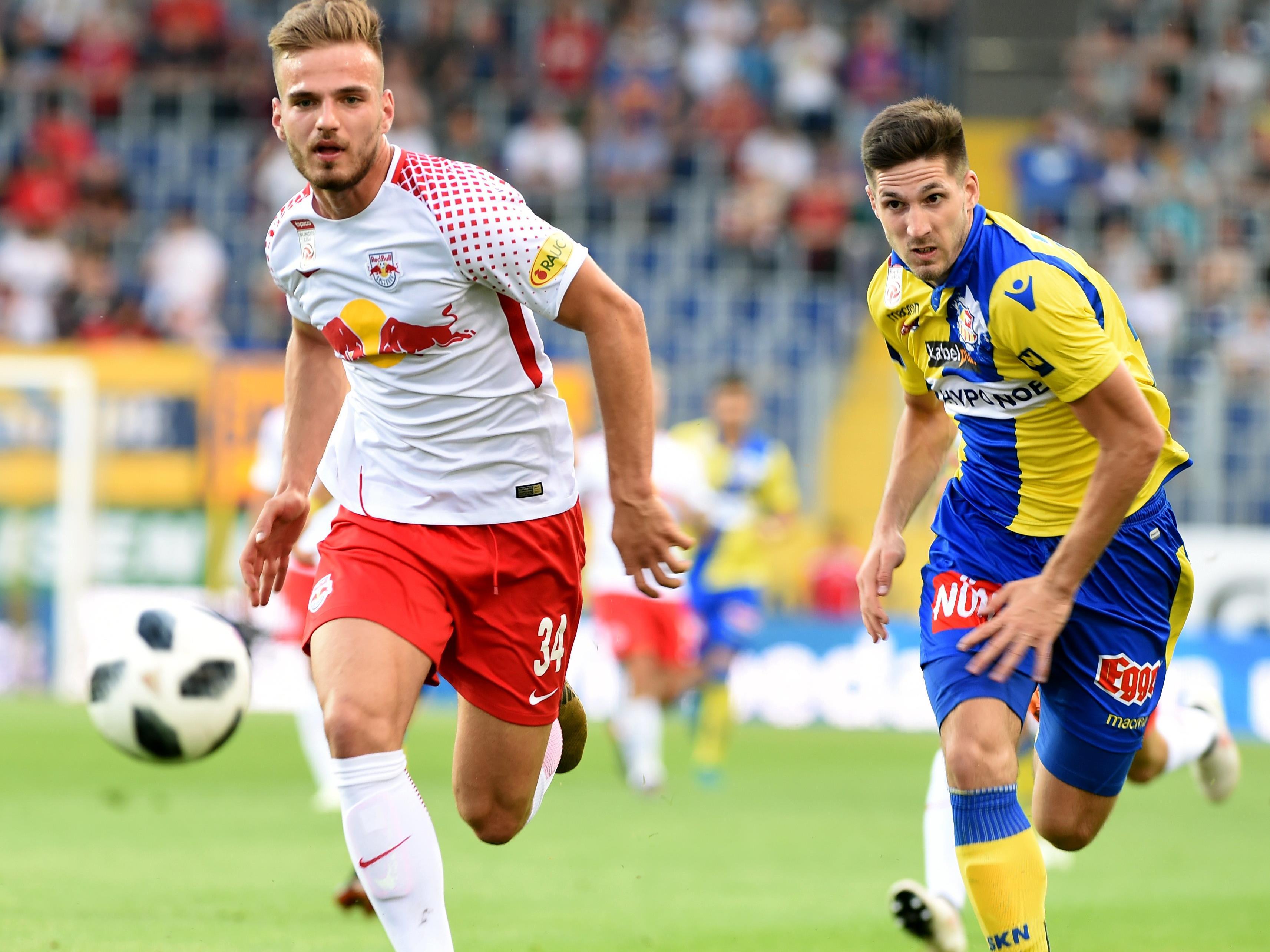 Red Bull Salzburg gewinnt in St. Pölten mit 2:0.