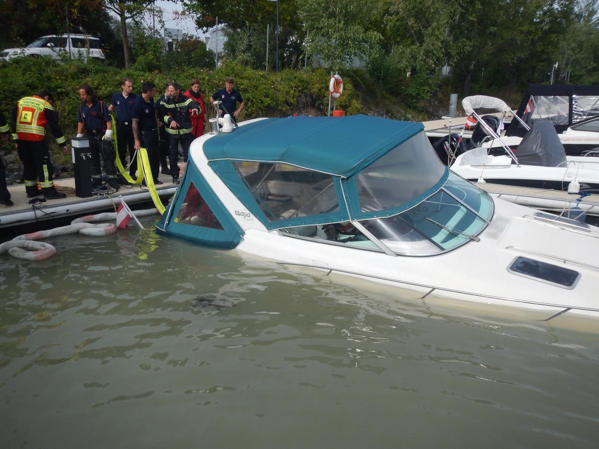 Das Sportboot konnte geborgen werden.
