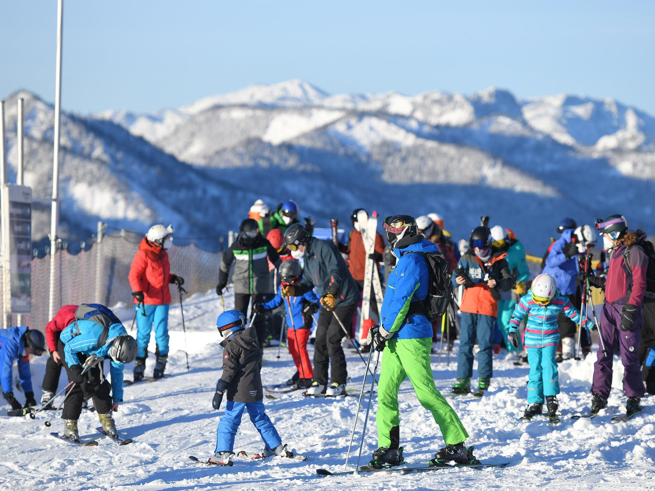 Skigebiete klagen über die geringe Auslastung.